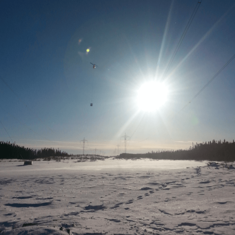 Remote Access Crews and Equipment chopper into location in Newfoundland